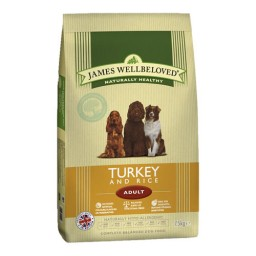 James Wellbeloved Dog Food Turkey & Rice 15kg