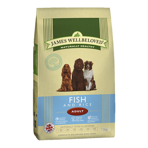 James Wellbeloved Dog Food Fish & Rice15kg